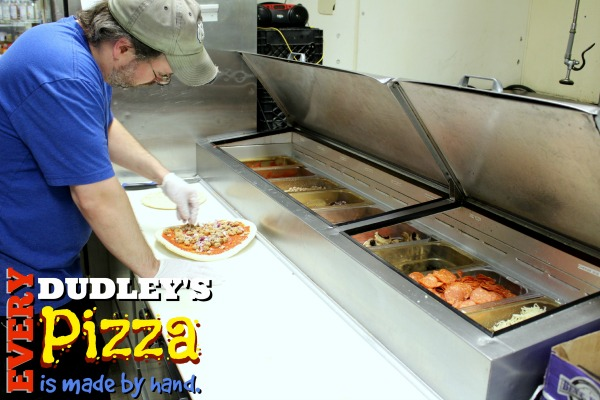 Dudley's Hand-made Pizzas Rock!